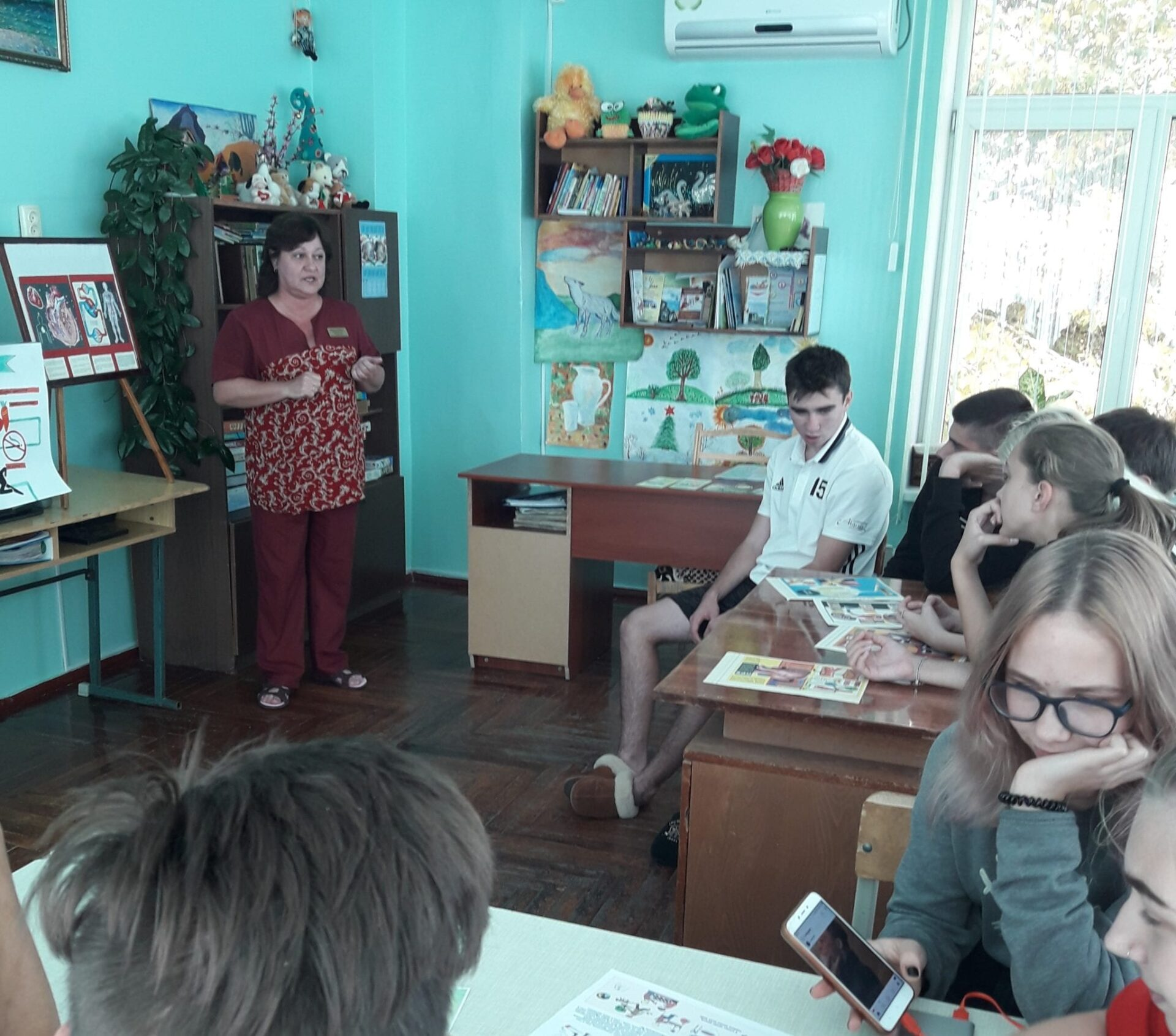 Заняття до Всесвітнього дня серця Міська дитяча лікарня №5 детская больница Запорожье