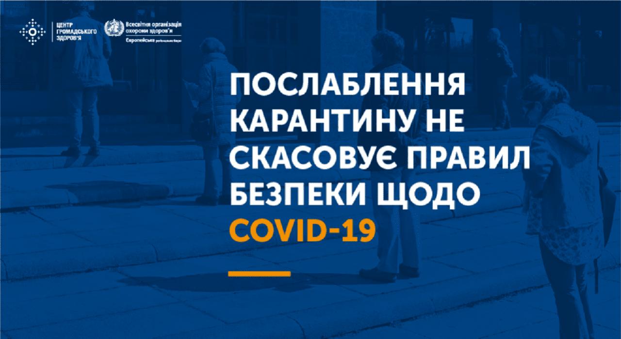 Послаблення карантину не скасовує правил безпеки щодо COVID-19 Міська дитяча лікарня №5 детская больница Запорожье