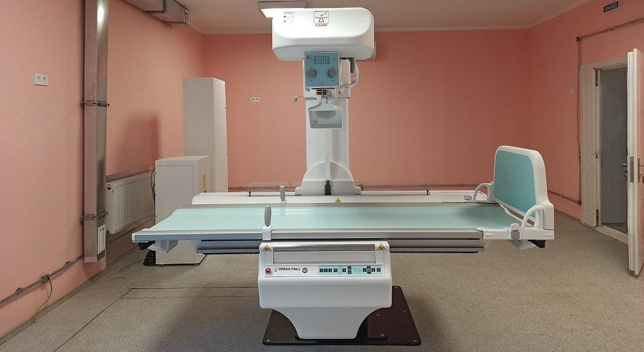 У рентгенологічному кабінеті новий сучасний рентген-діагностичний комплекс Міська дитяча лікарня №5 детская больница Запорожье