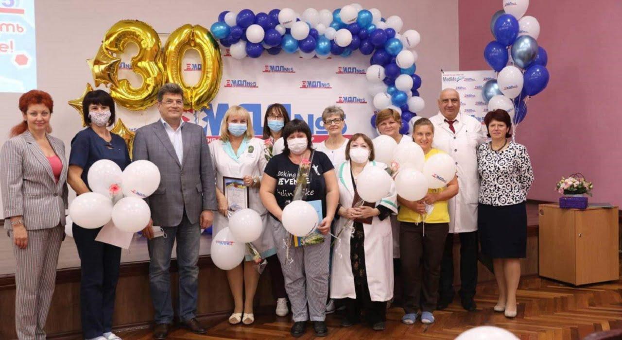 30 років на варті дитячого здоров'я Міська дитяча лікарня №5 детская больница Запорожье